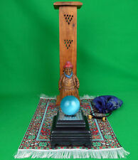 Sultan mystic lighted gazing ball incense tower magic carpet set Syroco figurine