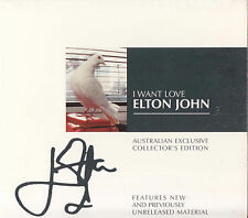 ELTON JOHN I Want Love CD Single - Digipak - Numbered OZ Collector's Edition