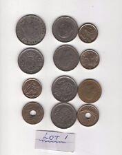 Monedas española 12 monedas Valores Surtidos. lot1 redujo el precio de salida
