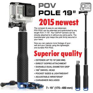 Gopro pole selfie stick handheld monopod mount adapter for hero 2 3 4 SJ4000