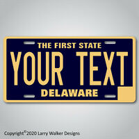 DELAWARE YOUR TEXT Personalized Custom Aluminum Vanity License Plate Tag NEW