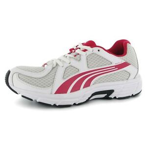 Womens Puma Axis v3 Trainers Size UK 3 White Pink RRP £40