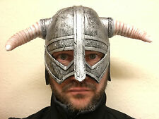 VIKING HELMET FANCY DRESS NORDIC WARRIOR SKYRIM COSTUME UNISEX WOMENS MENS