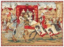 "Neuf 30"" médiévale listes/tournoi tapestry wall hanging"