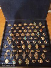 Silber 925 Silberringe Konvolut 70 Stück ungetragen Indianer-/ Mittelalter Style