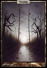 TEXTLESS FULL ART Palude - Swamp MTG MAGIC Unhinged English EXC-NM