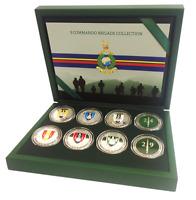 Royal Marines 3 Commando Brigade Silver Spoof Coin / Medal Commemorative Box Set