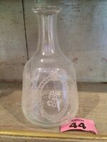 "VINTAGE Etched / ENGRAVED Hand Blown DECANTER 6.5"" INCHES"
