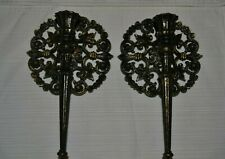 Vintage Homco Usa 1973 Wall Hanging Candle Holders Beautiful Design & Colors