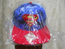 Superman Snapback Flat Bill Hat-Bioworld-All Over Print-DC Comics-NIP