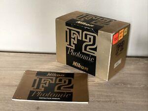 Nikon F2 Black Photomic Box Only - w/ Original Instruction Manual