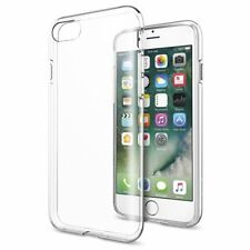 Clear Silicone Case For iPhone 8 7 Clear TPU Back Cover + 1 Screen Protector