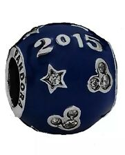 PANDORA RETIRED DISNEY EXCLUSIVE 'MICKEY BLUE' STAR 2015 CHARM IN GIFT BAG