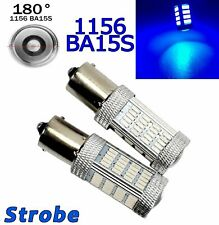 Strobe Blue Rear Turn Signal 1156 BA15S P21W 7506 3497 92 LED Bulb A1 GM LA