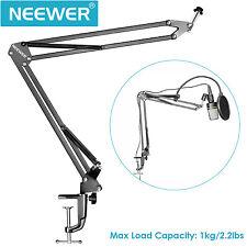 Neewer soporte de Micrófono Suspensión brazo tijera con pinza montaje