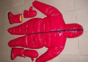 Unisex Shiny nylon down suit overall winter coat wet-look 2-5kg filling XS-4XL