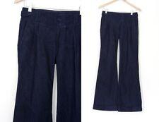 Banana Republic Dark Denim Cuffed Wide Leg Trouser Pants Jeans 0