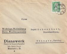 Rastatt, sobres 1928, dianawerk Mayer & grammelspacher