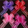10X 50mm Organza Ribbon Pull Bows Wedding Car Decor Gift Wrap  Colourful HO