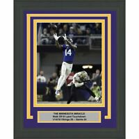 Framed STEFON DIGGS Minnesota Vikings Miracle 8x10 Photo Professionally Matted 2