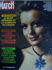 PARIS MATCH N° 1227 ROMY SCHNEIDER CANCER NIXON AVORTEMENT VIETNAM THIEU 1972