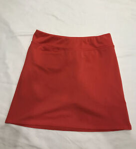 "Adidas Climalite Womens Golf Skirt Orange Size 0 XS 15"""