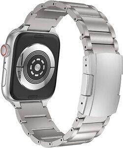 Titanium Alloy Metal Watch Band Apple Watch Series 6/5/4/3/2/1-38mm/40mm-Silver