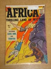 AFRICA THRILLING LAND OF MYSTERY #1 VG- (3.5) MAGAZINE ENTERPRISES COMICS 1955