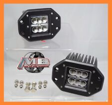 """MBA 2 Dually Flush Mount 3"""" 24w CREE/LED Pod Lights For Truck/Jeep Off-Road ATV"""
