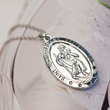 New jewerly Christopher Medal Charm Pendant and Chain Travel Saint Necklace gift