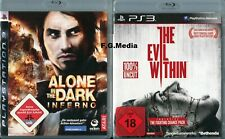 PS3 - Alone in the Dark: Inferno + The Evil Within - Inkl. Anleitung!