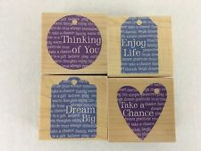 Hero Arts A3092 Mounted Rubber Stamp Woodblock Stamp Handmade from the Heart