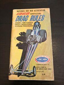 VINTAGE 1969 NHRA DRAG RULES BOOKLET