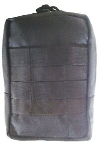 TACTICAL FORCE BLACK MEDIC / AMMO POUCH MOLLE 900D DOUBLE WATERPROOF 20X15X7CM