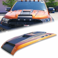BONNET HOOD SCOOP MATTE MATT BLACK+ORANGE(FLQ) FOR FORD RANGER MK1 PX2 2012-2020