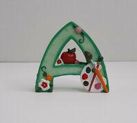 Vintage Mary Engelbreit Alphabet Letter A Art Artist Apple Resin Figurine