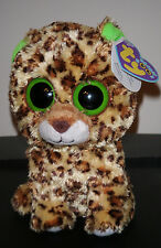 """Ty Beanie Boos ~ SPECKLES the 6"""" Leopard ~ Solid Eyes ~ MINT with MINT TAGS"""