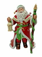 Retired Danbury Mint Millenium SANTA CLAUS Porcelain Figurine- 24 Kt Gold Trim