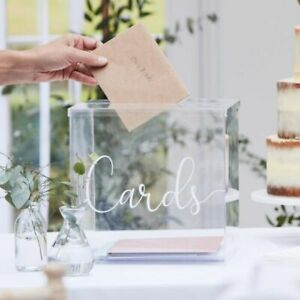 Card Post Box Acrylic Wedding Event Party Better Together Range (BR-325)