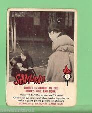 SCANLENS 1964 SAMURAI TV CARD #9  TOMBEI CAUGHT
