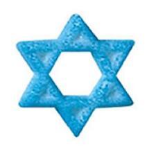 Sugar Decorations Cookie Cake Cupcake Jewish STAR OF DAVID 12 ct.