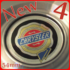 4 CHRYSLER 54mm 55mm WHEEL CENTER CAP LOGO BADGE STICKERS COLOUR CHROME STARTECH