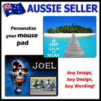 For Personalised PHOTO Mouse Pad PICTURE LOGO customised Gift Idea !!!