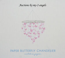 Pottery Barn Kids Pink Paper BUTTERFLY MOBILE Chandelier Lindsey Lucy Adelaide