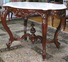 VICTORIAN ROCOCO TURTLE TOP CENTER TABLE