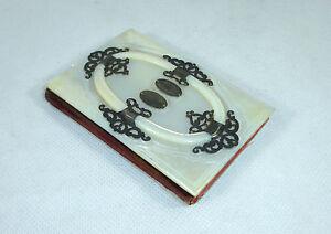 Extraordinary Notebook Book Pearl Silver France Switzerland Um 1860