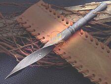Genuine Custom Hand Forged Damascus steel Tri Dagger knife Fixed Blade full tang