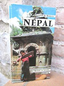 """Népal, éditions Robur, """"Le monde en poche"""", Evrard de Rouvre 1975, guide"""