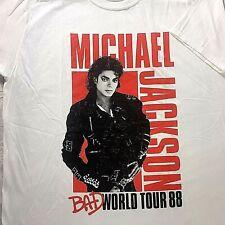 Michael Jackson 'Bad' World Tour 88' T-Shirt Men's Size XL Official MJ Tee NEW