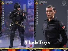 China Special Police Lightning Commando SWAT Blitz Brigade 1/6 FLAGSET 73024 USA